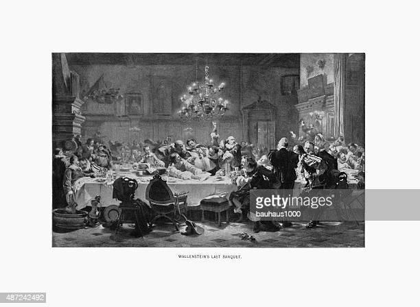 Wallenstein's Last Banquet Engraving