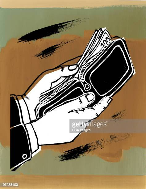 wallet - giving stock illustrations