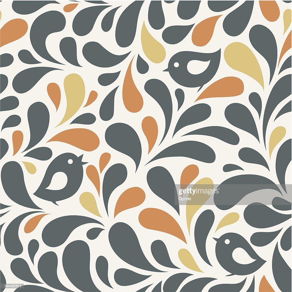 Wallpaper With Birds Vector Art Getty Images