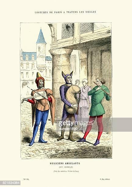Wandering minstrels 15th Century France