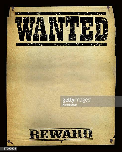 wanted poster background - vintage - desire stock illustrations