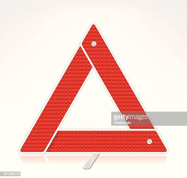 警告を示す三角形 - バリケード点のイラスト素材/クリップアート素材/マンガ素材/アイコン素材