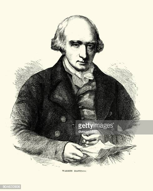 warren hastings, governor general of india - governor stock illustrations, clip art, cartoons, & icons