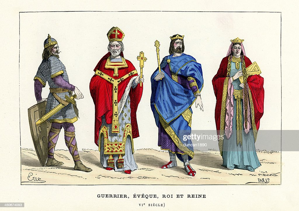 Warrior, Bishop, King And Queen : stock illustration