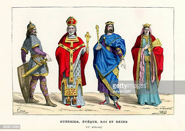 warrior, bishop, king and queen - bishop clergy stock illustrations, clip art, cartoons, & icons