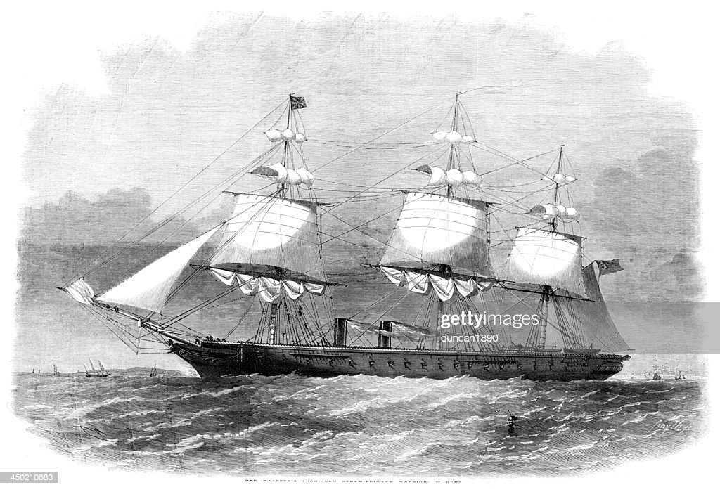 HMS Warrior : stock illustration