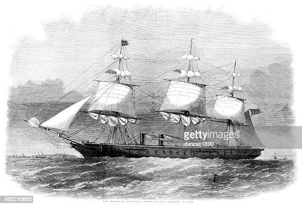 hms warrior - us navy stock illustrations, clip art, cartoons, & icons