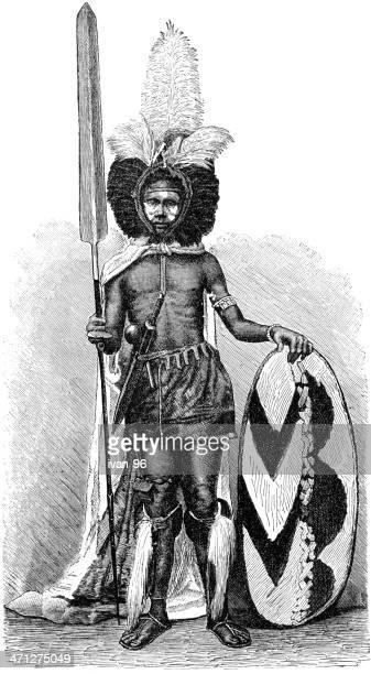 ilustraciones, imágenes clip art, dibujos animados e iconos de stock de guerrero - masai