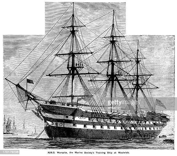 HMS Warspite at Woolwich