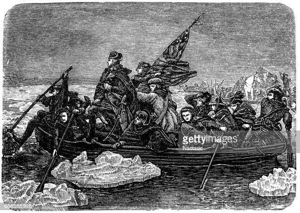 washington's transition over the delaware - us military stock illustrations, clip art, cartoons, & icons