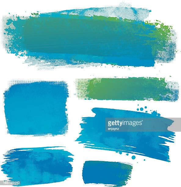 water colour backgrounds - color swatch stock illustrations