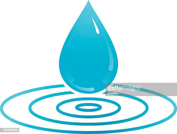water drop - puddle stock illustrations, clip art, cartoons, & icons