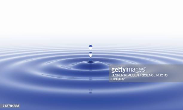 water droplet and ripped surface - silence stock illustrations