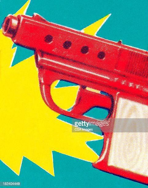 water pistol - trigger stock illustrations