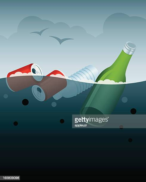 water pollution - water pollution stock illustrations, clip art, cartoons, & icons