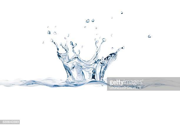 water splashing, artwork - white background stock illustrations