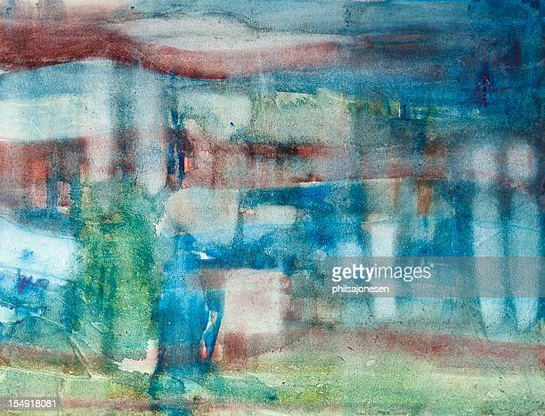 watercolor abstract painting - saturated colour stock illustrations