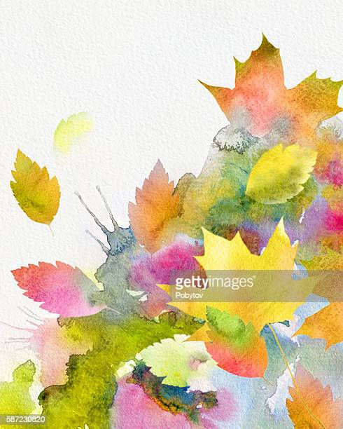 watercolor autumnal background