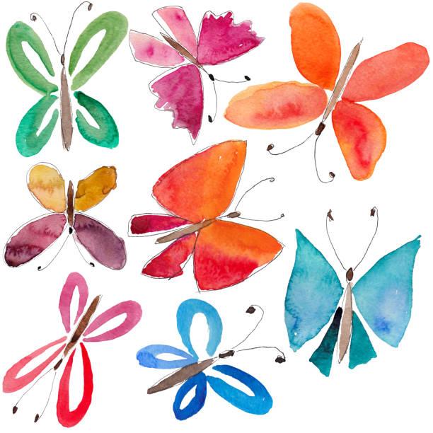 Watercolor Butterflies