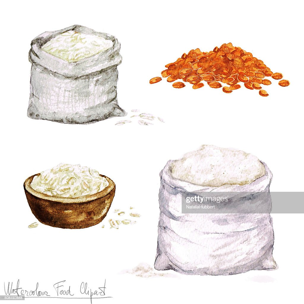 watercolor cooking clipart flour and cereal high res vector graphic getty images https www gettyimages com detail illustration watercolor cooking clipart flour and cereal royalty free illustration 508492888