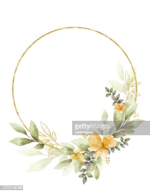 水彩画フローラルクリップアート。結婚式の招待状の要素。 - ユーカリの葉点のイラスト素材/クリップアート素材/マンガ素材/アイコン素材