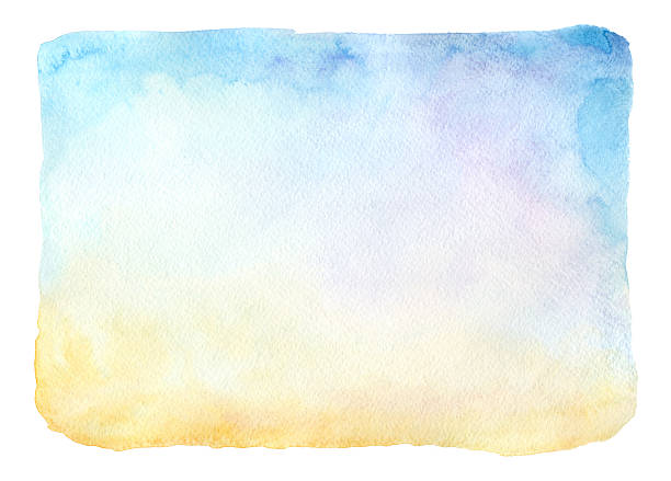 watercolor frame - pastel stock illustrations