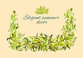 thick lush green frame foliage lots