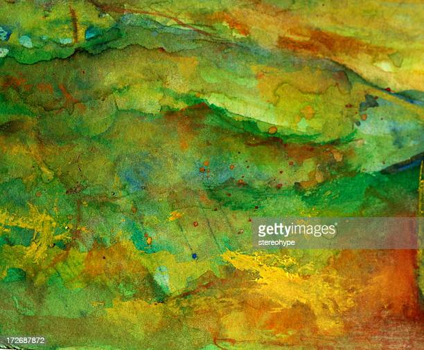 watercolor greenery - grass area stock illustrations