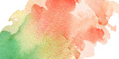 watercolor hand painted living coral green