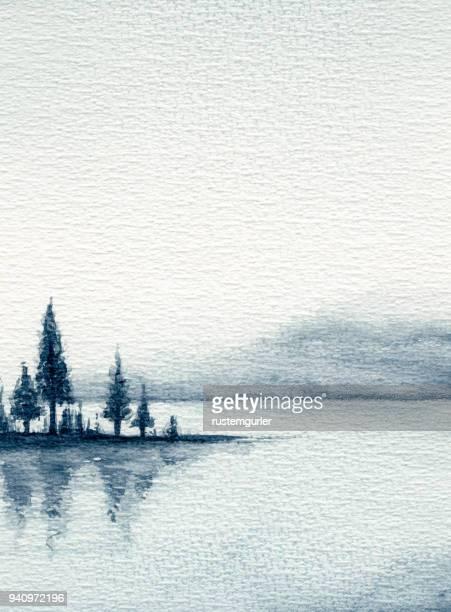 水彩の風景