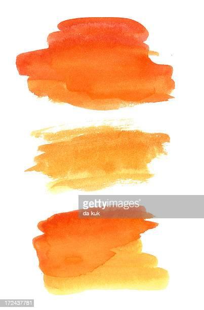 Watercolor paint design elements