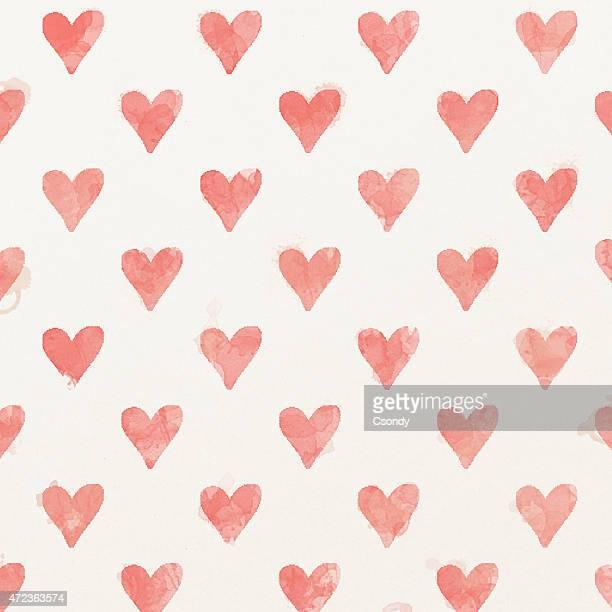 Fond aquarelle peinte coeur