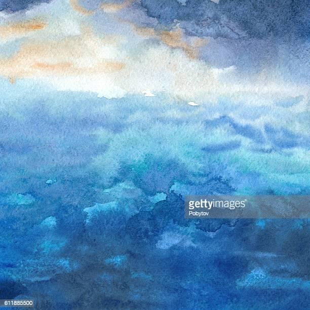 ilustrações, clipart, desenhos animados e ícones de watercolor sea - veículo aquático