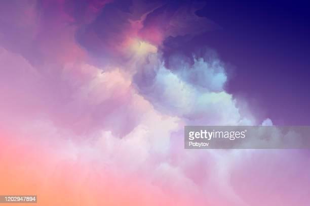 illustrations, cliparts, dessins animés et icônes de ciel d'été d'aquarelle - ciel sans nuage