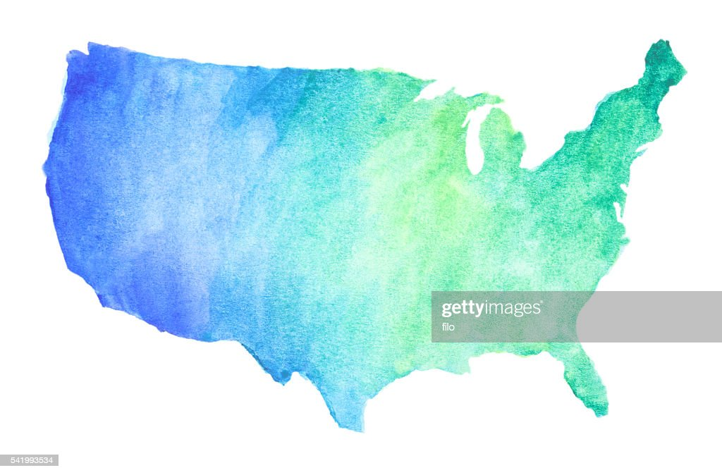 Watercolor United States Map Stock Illustration Getty Images - Watercolor us map