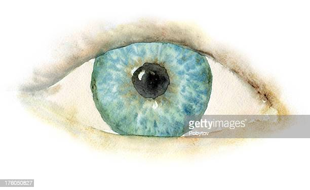 Watercolour blue eye