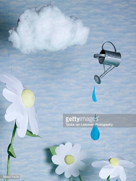 watering can - rain stock illustrations