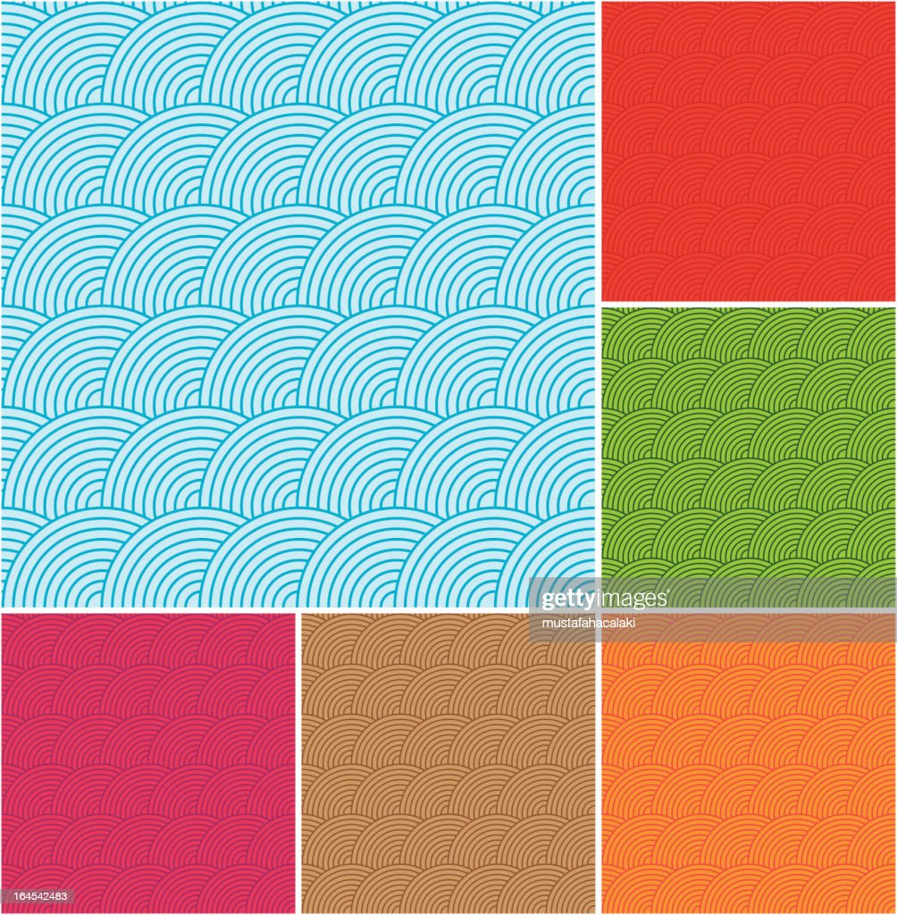 Wave abstract seamless pattern