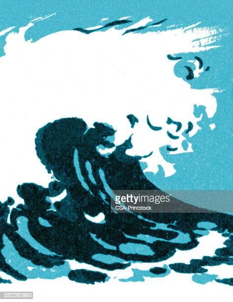 wave - tide stock illustrations, clip art, cartoons, & icons
