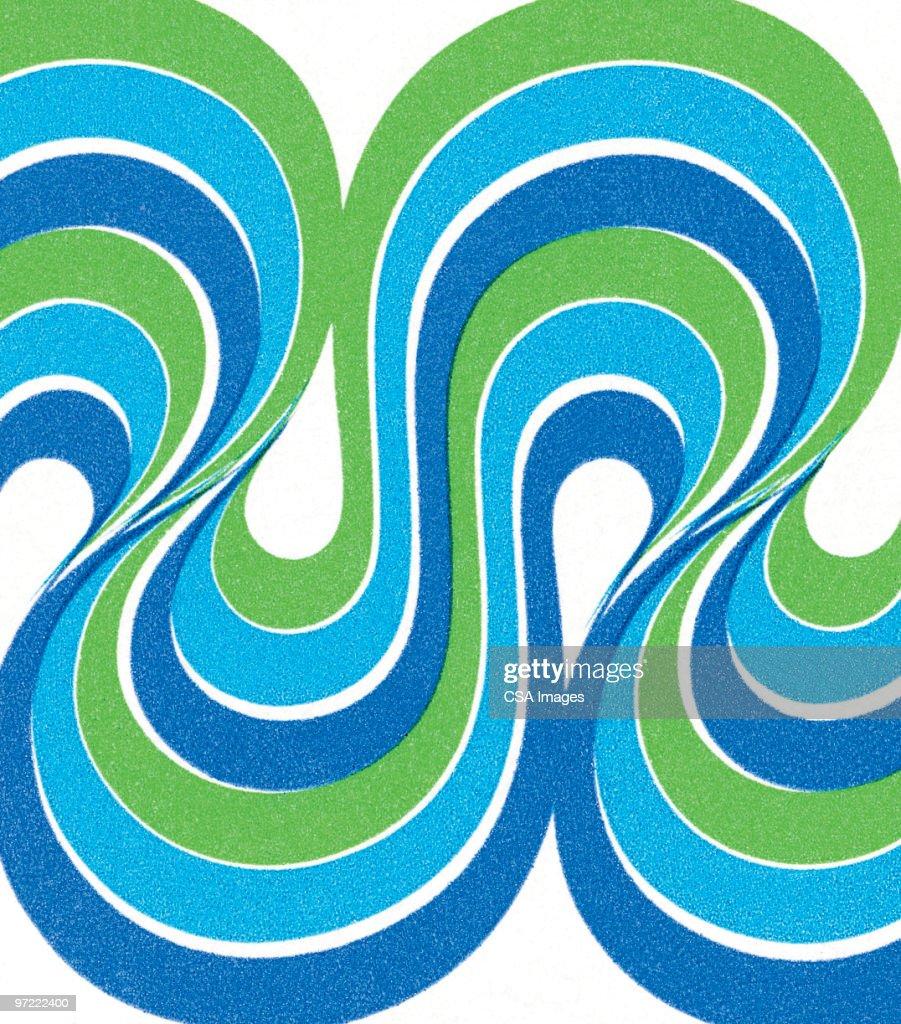 Wave pattern : stock illustration