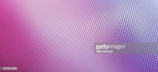 ilustrações de stock, clip art, desenhos animados e ícones de a wave pattern of shiny dots on a colored background - panorâmica