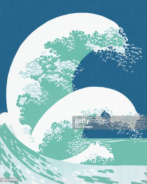 waves - image stock illustrations