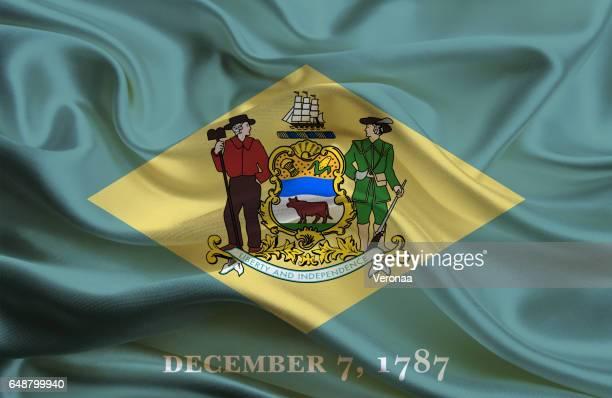 Waving Delaware State flag