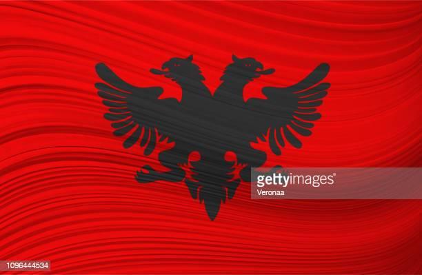 ALBANIAN waving flag