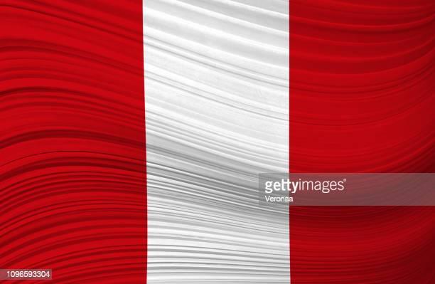 peru waving flag - peruvian culture stock illustrations