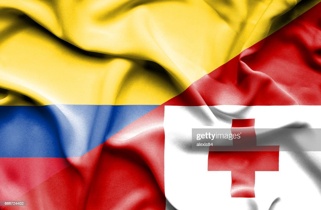 Waving Flag Of Tonga And Columbia Stock Illustration Getty Images