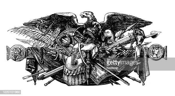 Arme de la Roman Imperial près de l'aigle