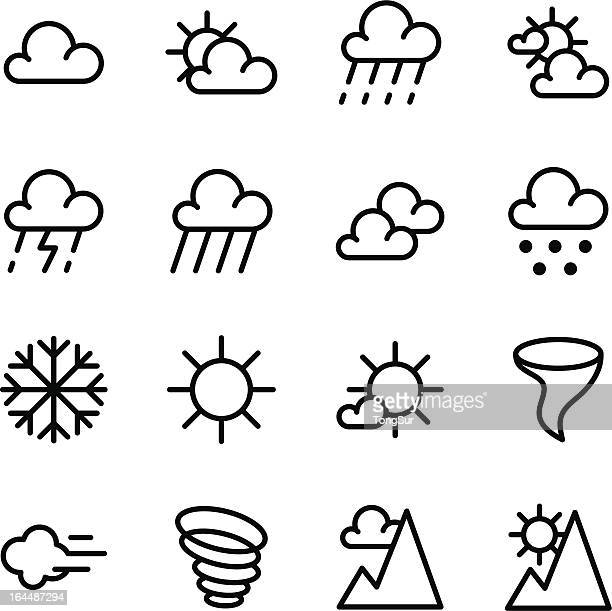 weather icons - water cycle stock illustrations, clip art, cartoons, & icons