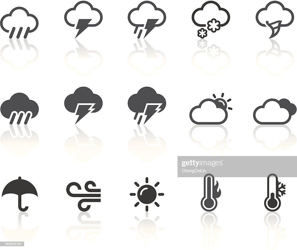 Weather Icons | Simple Black Series