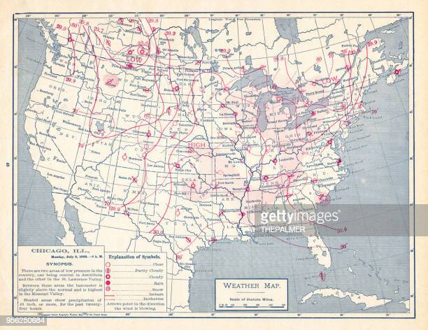 weather map of united states 1895 - tide stock illustrations, clip art, cartoons, & icons